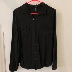 Black Button Up Dress Shirt